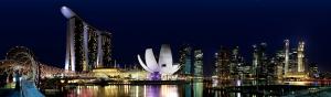 Singapore`s berømte skyline om natten (foto STB)