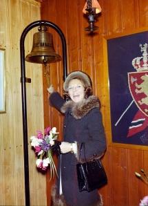 Da Prinsesse Beatrix åpnet julemarkedet i 1974 (Sjømannskirken)