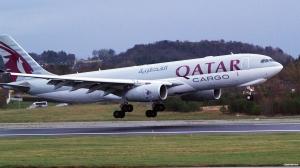 Qatar Airways Cargo Airbus A 330F at Stavanger Airport Norway (©otoerres)