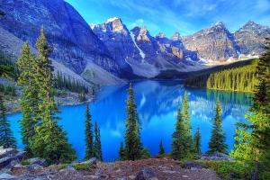 Moraine Lake i Banff National Park, Canada (myplanet.dk)