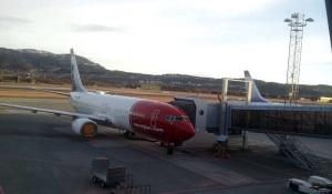 Streikefast Norwegianfly på Trondheim lufthavn Værnes